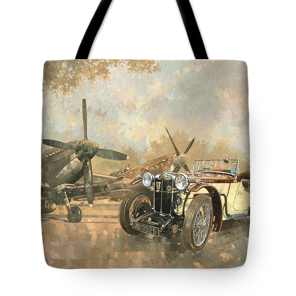Cream Cracker Mg 4 Spitfires  Tote Bag