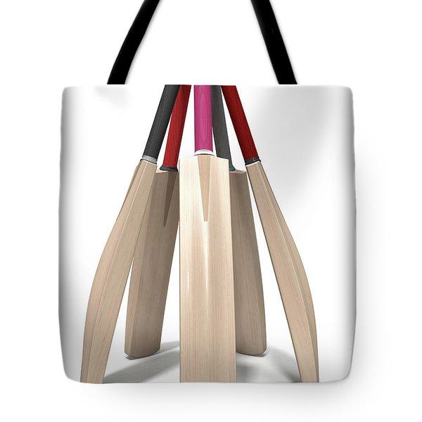 Cricket Bat Circle Tote Bag