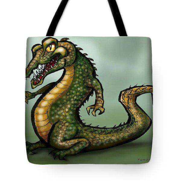 Crocodile Tote Bag by Kevin Middleton