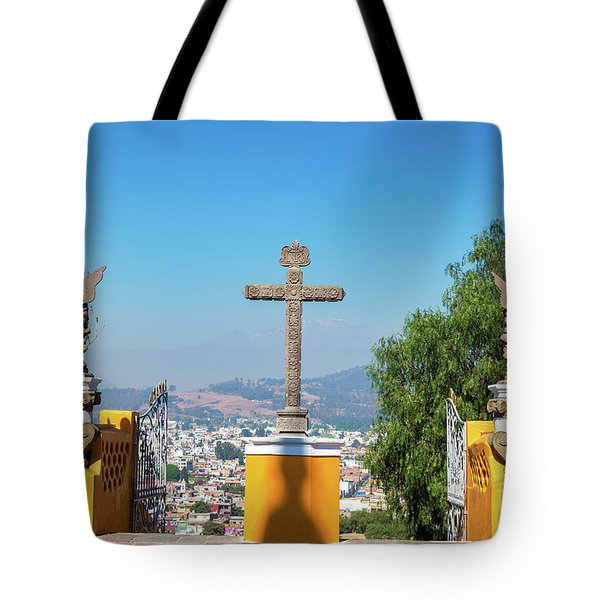 Cross In Cholula, Mexico Tote Bag