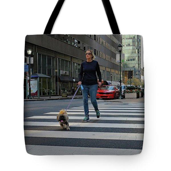 Crossing The Street Tote Bag