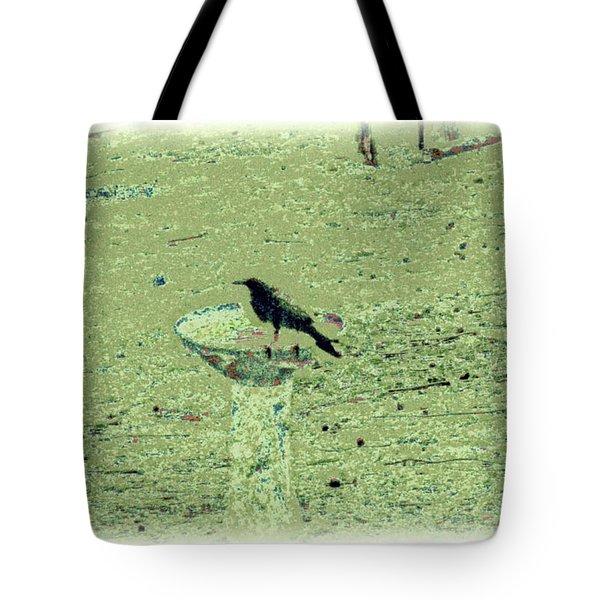 Crow And Bath Tote Bag