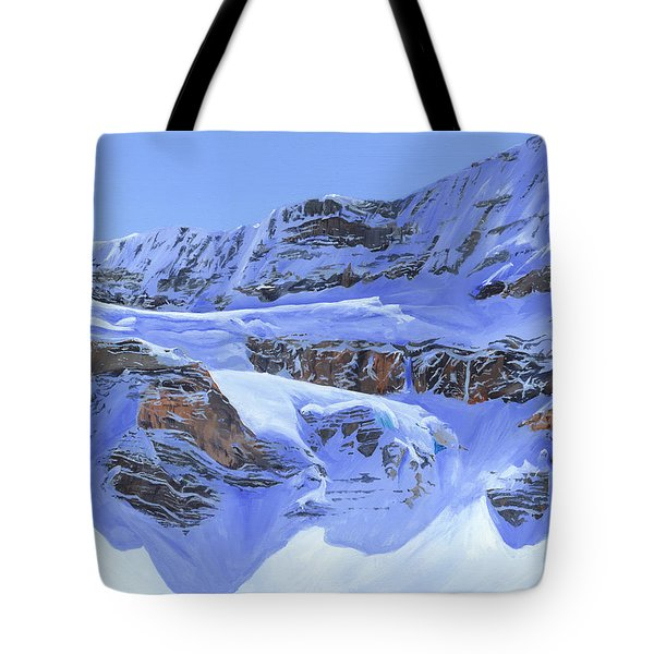 Crowfoot Glacier Tote Bag by Glen Frear