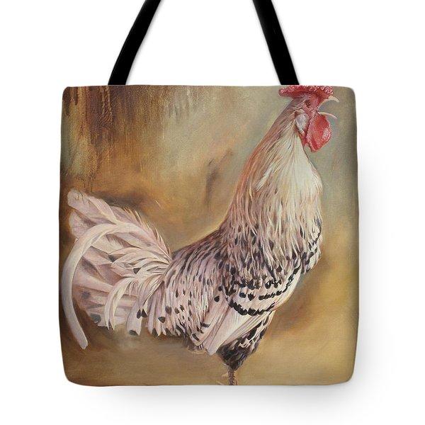 Crowing Rooster Tote Bag
