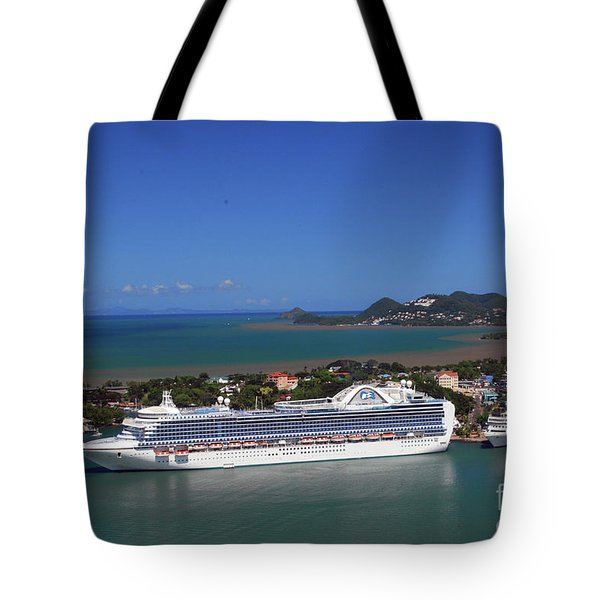 Tote Bag featuring the photograph Cruise Port by Gary Wonning