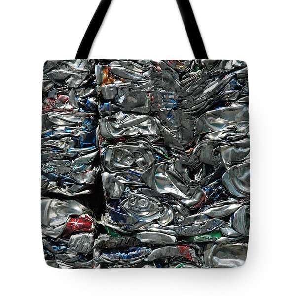 Crushed Cans Tote Bag