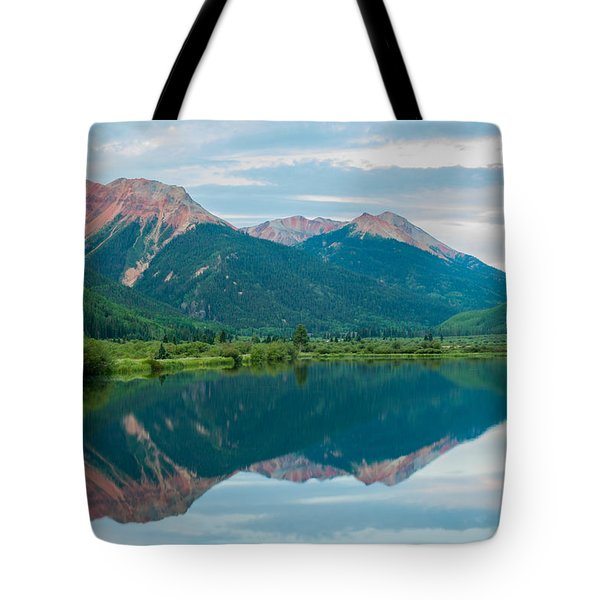 Tote Bag featuring the photograph Crystal Lake by Jay Stockhaus