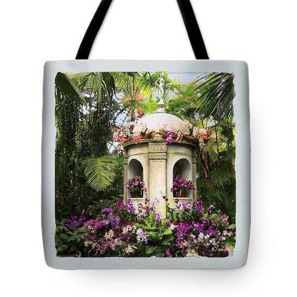 Tote Bag featuring the digital art Cuban Orchid Show by David Klaboe