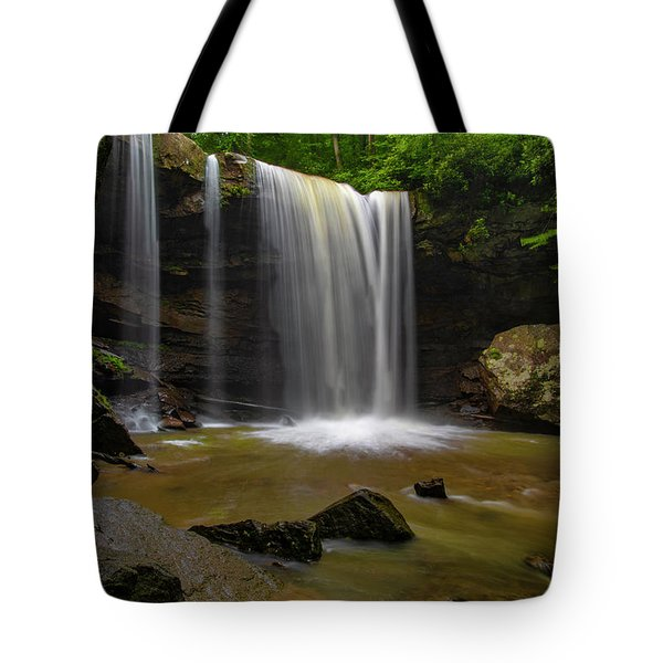 Tote Bag featuring the photograph Cucumber Falls by Ronald Santini