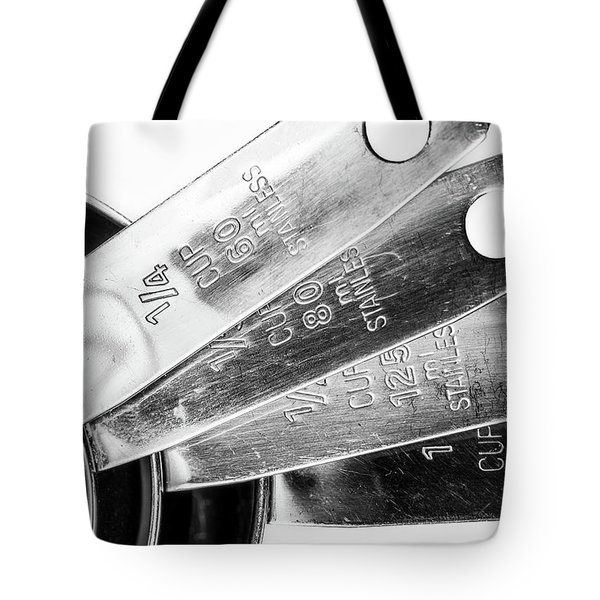 Tote Bag featuring the photograph 1 Cup Measure And Siblings. by Gary Gillette