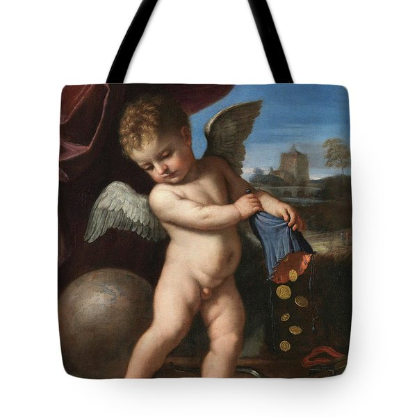 Cupid Spurning Riches Tote Bag