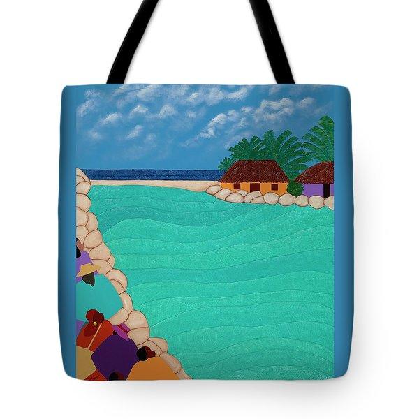 Curacao Lagoon Tote Bag