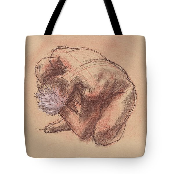 Tote Bag featuring the painting Curled Up by Judith Kunzle