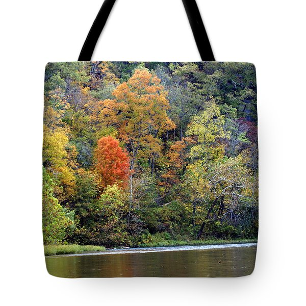 Current River Fall Tote Bag by Marty Koch