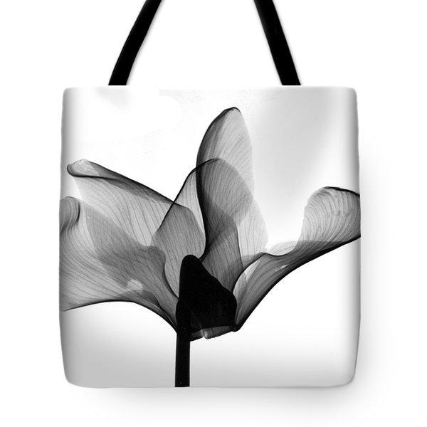 Cyclamen Flower X-ray Tote Bag