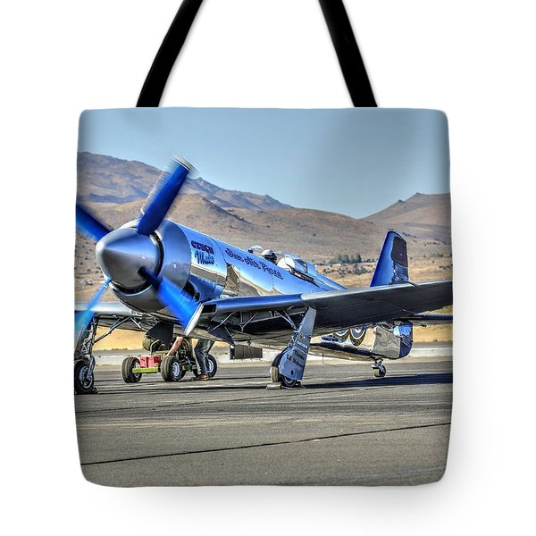 Tote Bag featuring the photograph Czech Mate Engine Start Sunday Afternoon Gold Unlimited Reno Air Races by John King