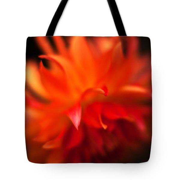 Dahlia Flame Tote Bag by Mike Reid