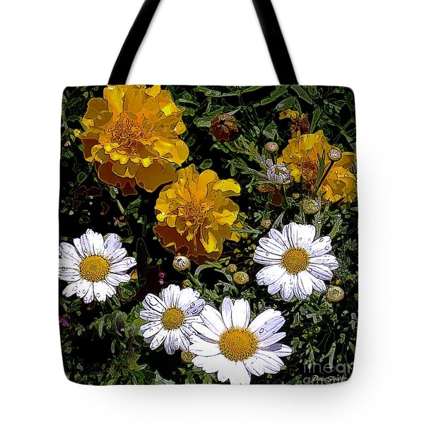 Daisies And Marigolds Tote Bag