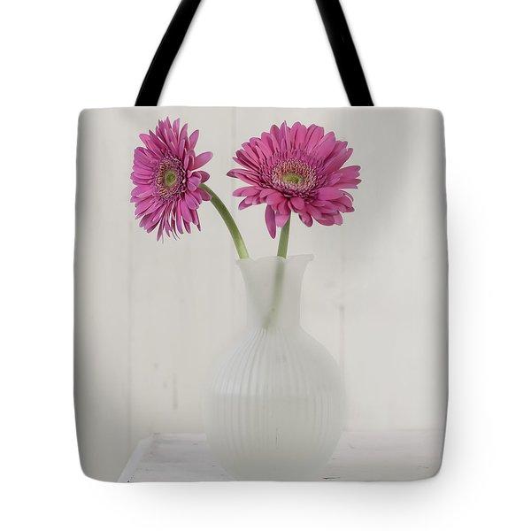 Tote Bag featuring the photograph Gerbera Daisy Love by Kim Hojnacki