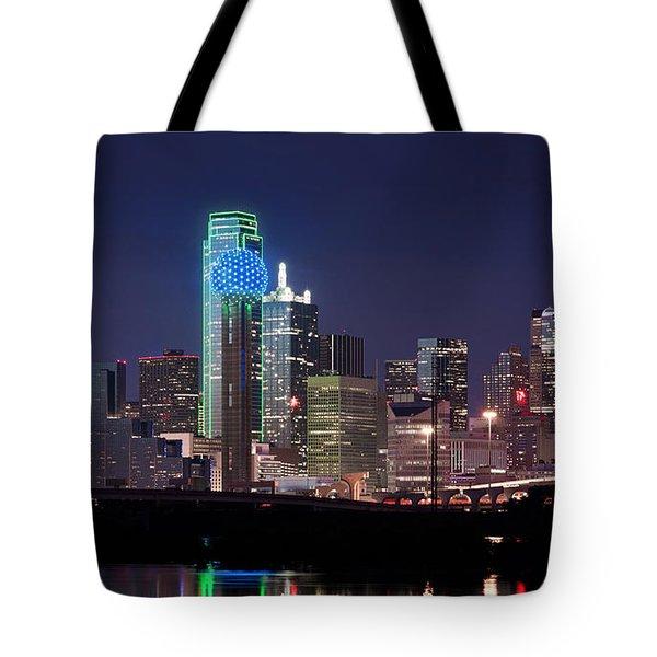 Dallas Skyline Cowboys Tote Bag