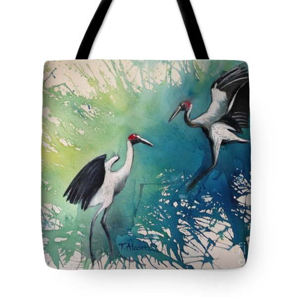 Dance Of The Brolgas - Original Sold Tote Bag