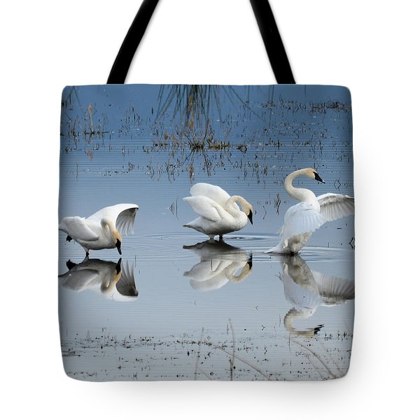 Dance Of The Trumpeter #1a Tote Bag