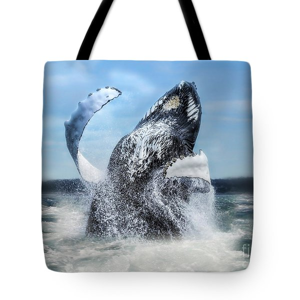 Dances With Whales Tote Bag