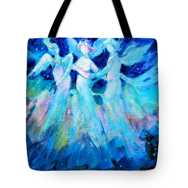 Dancing Angels Tote Bag by Diane Ursin