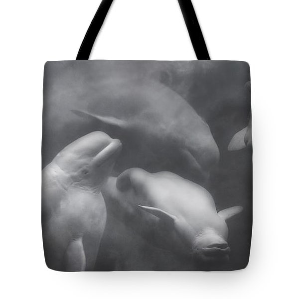 Dancing Belugas  Tote Bag by Betsy Knapp