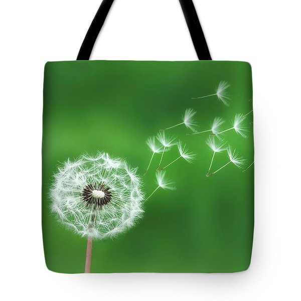 Dandelion Seeds Tote Bag by Bess Hamiti