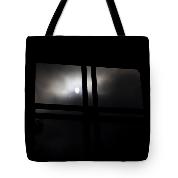 Tote Bag featuring the digital art Dark Window by Kathleen Illes