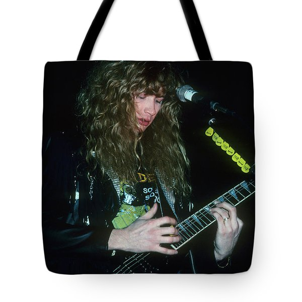 Dave Mustaine Of Megadeth Tote Bag