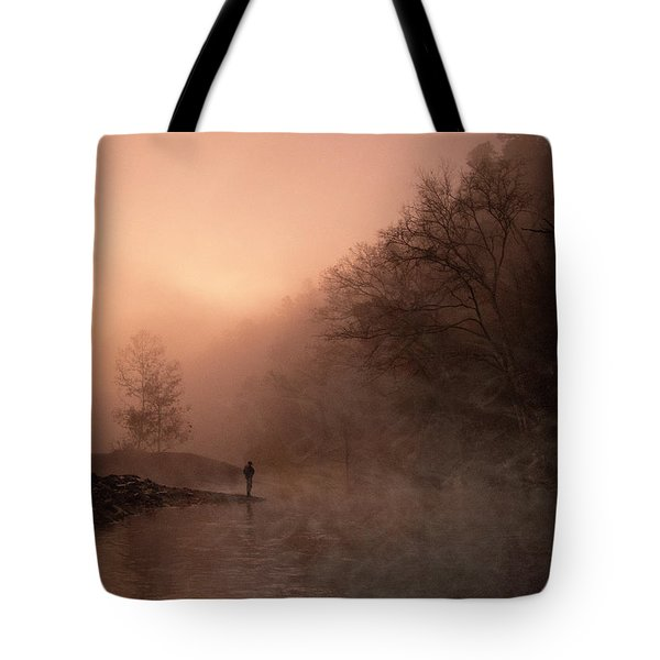 Dawn On The Lower Mountain Fork River Tote Bag