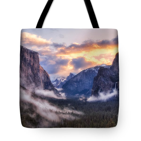 Daybreak Over Yosemite Tote Bag