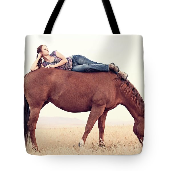 Daydreaming On A Horse Tote Bag