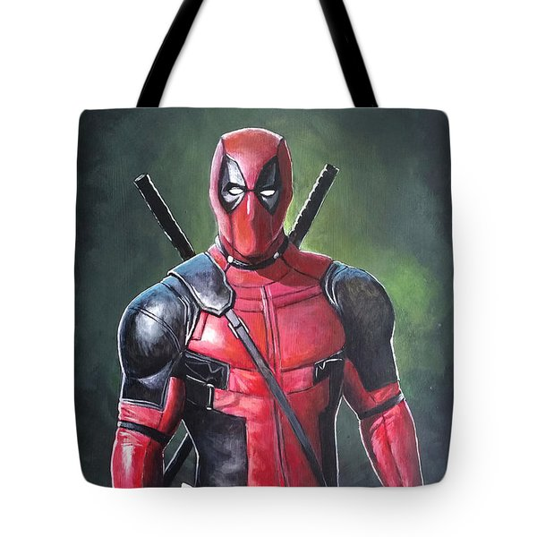 Deadpool Tote Bag by Tom Carlton