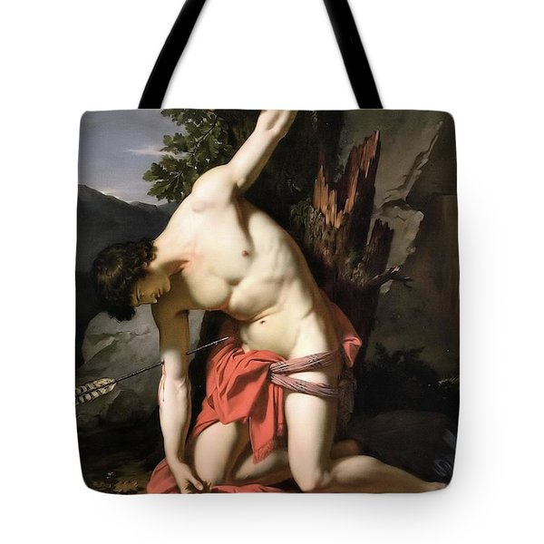 Death Of Saint Sebasian Tote Bag