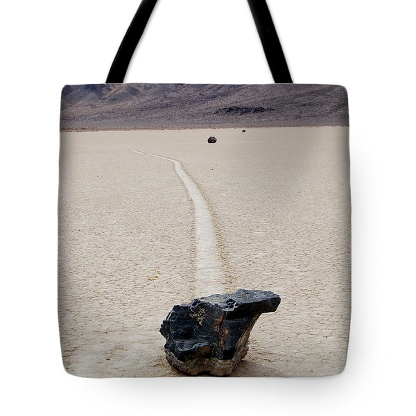 Tote Bag featuring the photograph Death Valley Racetrack by Breck Bartholomew