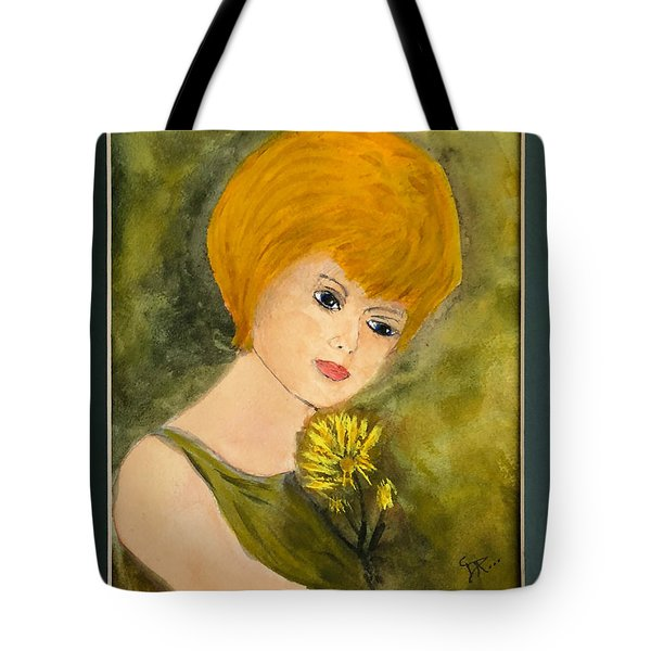 Tote Bag featuring the painting Debbie by Donald Paczynski