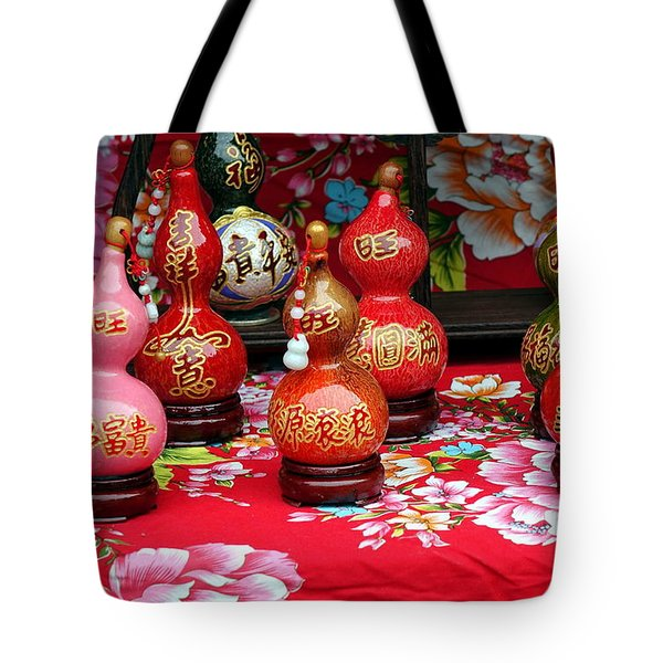 Decorated Dried Gourds Tote Bag