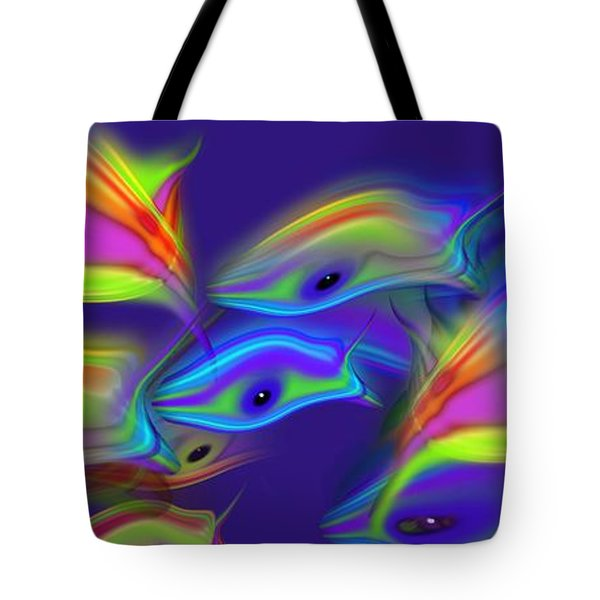 Deep Blue Marine Life Tote Bag