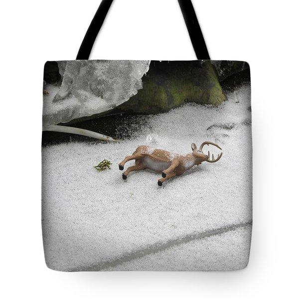 Deer Hunting Tote Bag