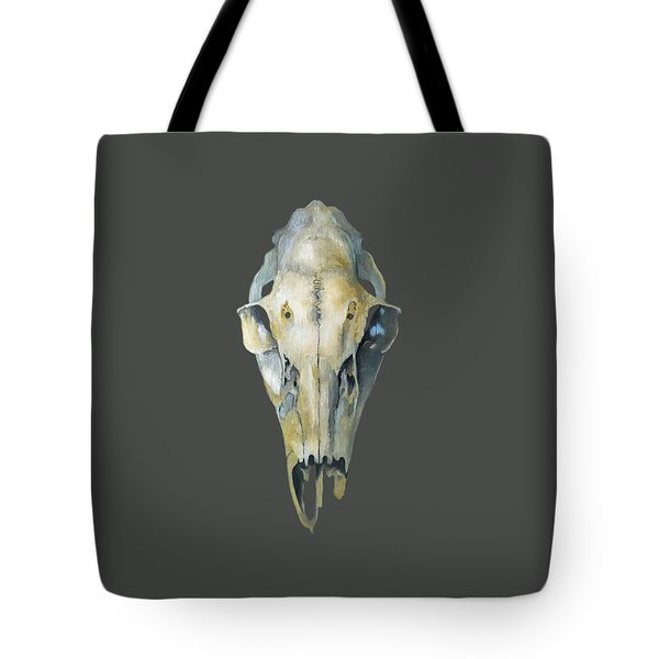 Deer Skull With Aura Tote Bag by Catherine Twomey