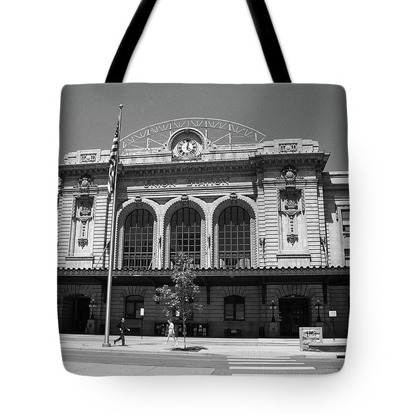 Denver - Union Station Film Tote Bag by Frank Romeo