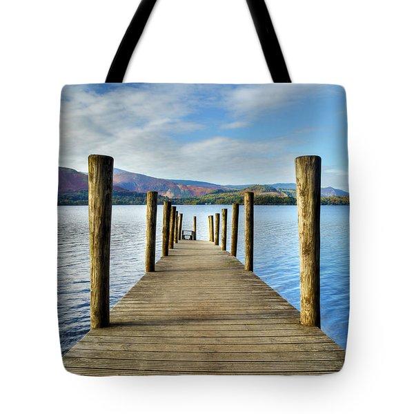 Derwent Water Pier Tote Bag
