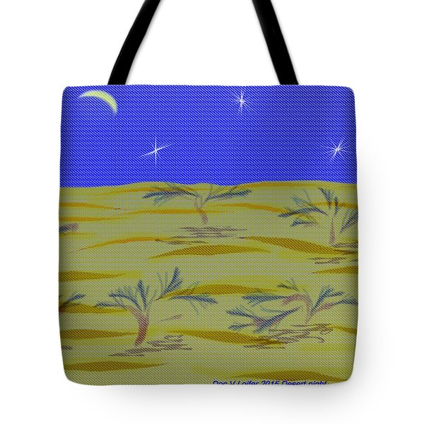 Tote Bag featuring the digital art Desert Night by Dr Loifer Vladimir