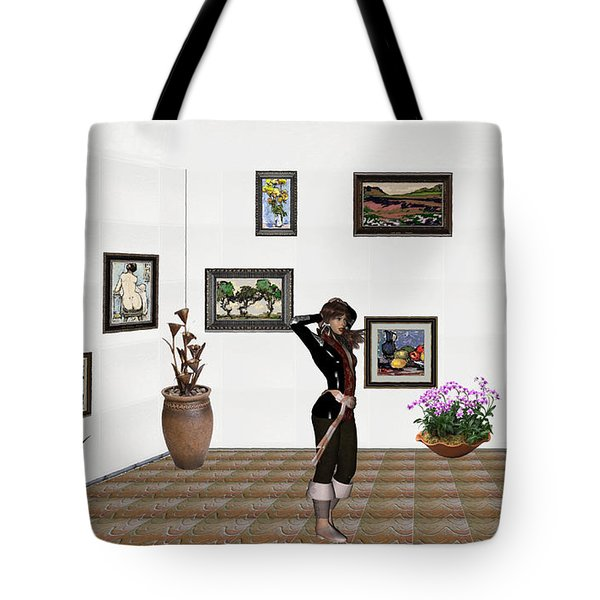 digital exhibition _ Sculpture 1 of girl  Tote Bag