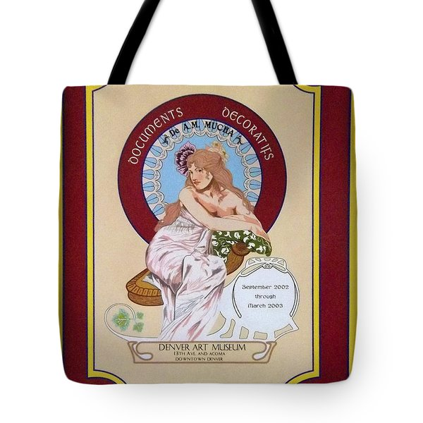 Digital Mucha Tote Bag