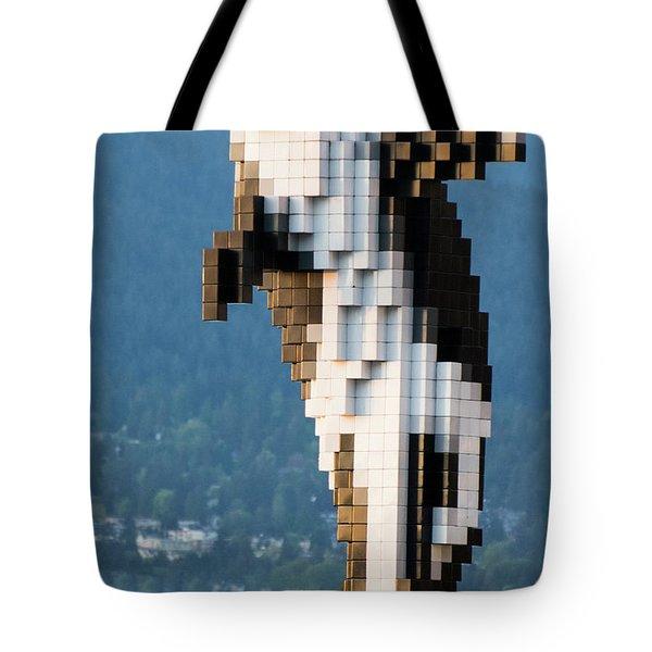 Digital Orca Tote Bag
