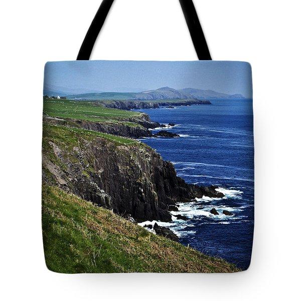 Dingle Coastline Near Fahan Ireland Tote Bag